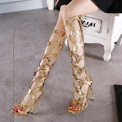 High Shaft Stiletto Heel Dress Sandals