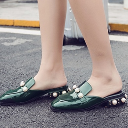 Beads Slip-On Women's Mules