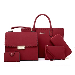 Shoespie Casual Plain PU Women Bag Set