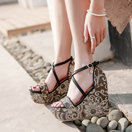 Platform Heel Wedge Sandals For Women