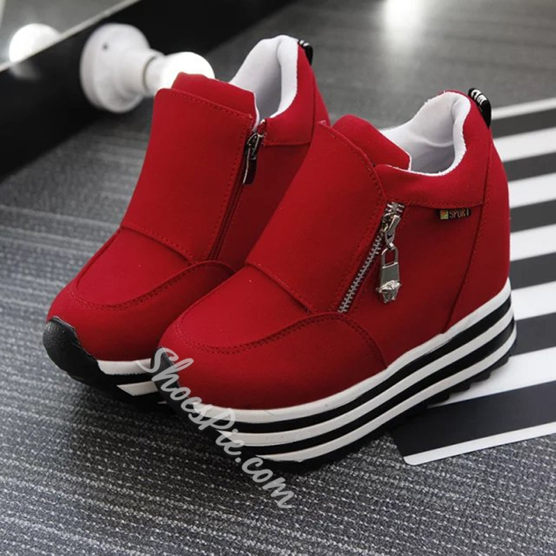 Platform Round Toe Women's Sneakers