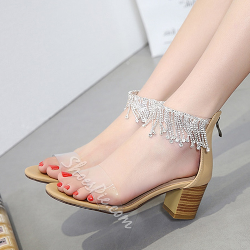 Jelly Fringe High Heel Sandals
