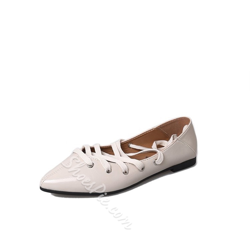 Pointed Toe Lace-Up Women's Shoes