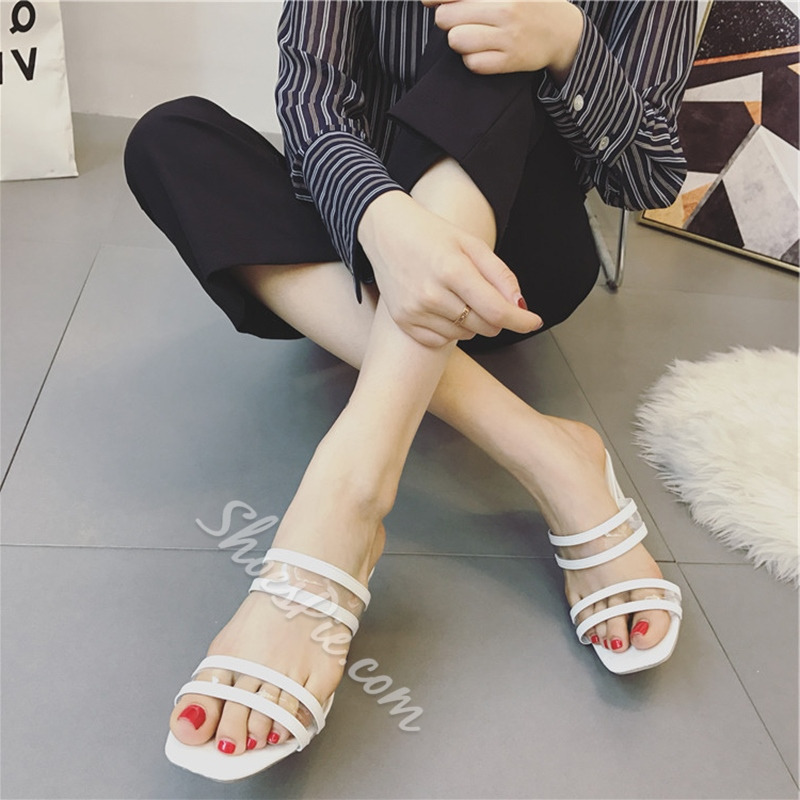 Jelly Plain Strappy High Heel Mules Shoespiecom