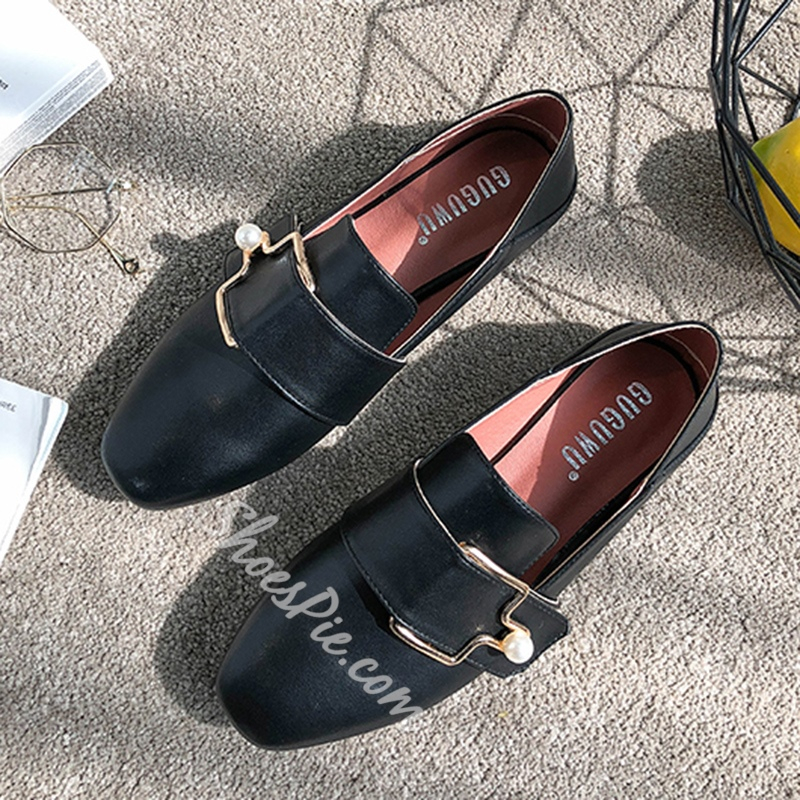 Plain Buckle Beads Women's Casual Shoes