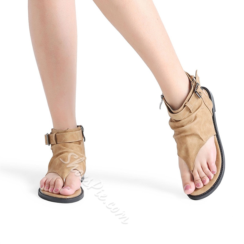 Summer Strappy Thong Flat Sandals