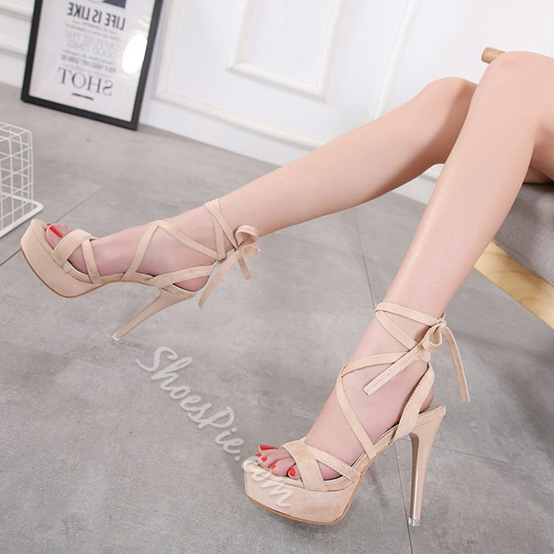Strappy Platform High Stiletto Heel Sandals