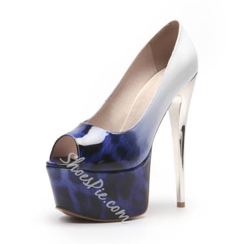 Print Platform High Stiletto Heels