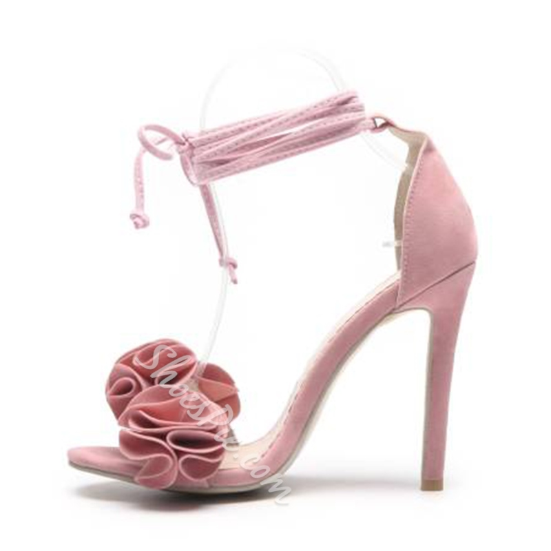 Lace-Up Stiletto Heel Dress Sandals