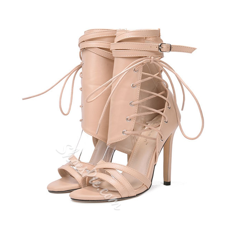 Fashion Cross Strap Stiletto Heel Dress Sandals