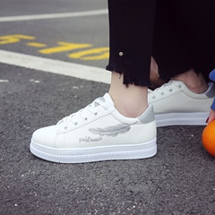 Embroidery Lace Up Women's Sneakers