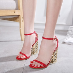 Open Toe Chunky Heel Sandals
