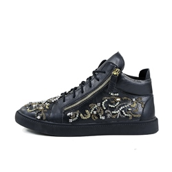 Men's Sneakers Casual Black Lace-Up