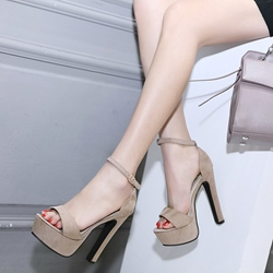 Plain Open Toe High Heel Sandals