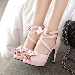Bow Platform Chunky Heel Dress Sandals