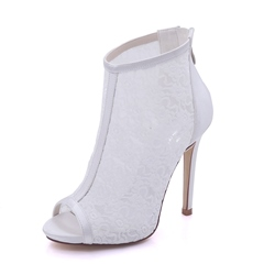 Peep Toe Plain Wedding Shoes