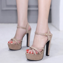 Platform Ankle Strap High Heel Sandals