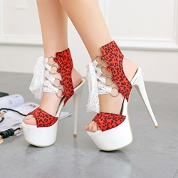 Leopard Sexy Platform High Stiletto Heel Sandals