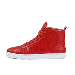 Fashion Men's Sneakers Snakeskin Casual Shoes