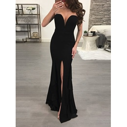 Prom Mermaid Floor-Length Split Bodycon Dresses