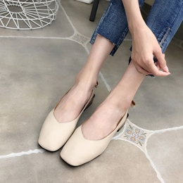 Slip-On Square Toe Women's Casual Shoes
