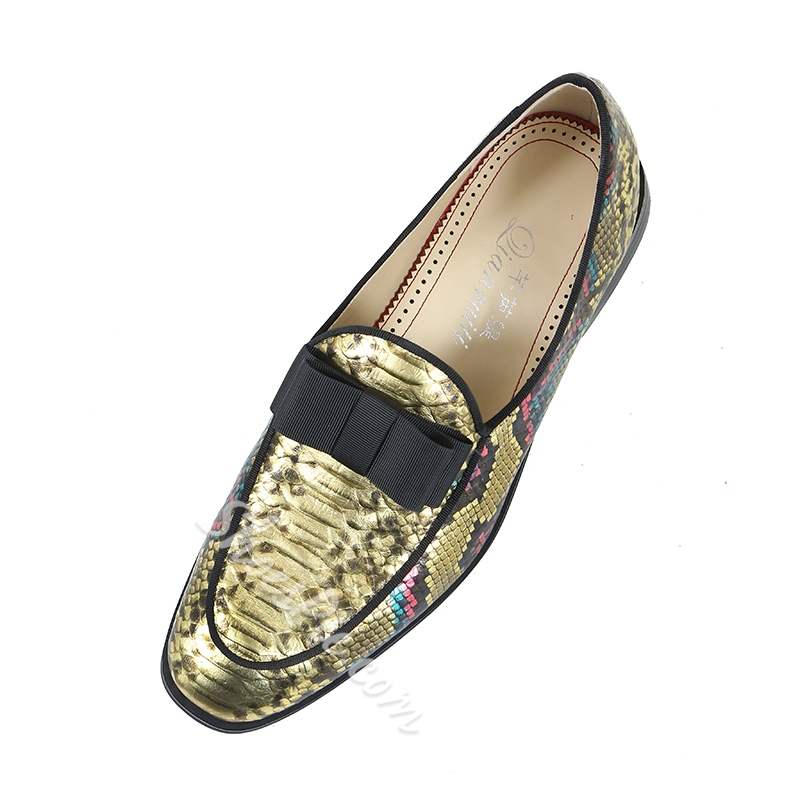 Men's Loafers Slip-On Bowknot
