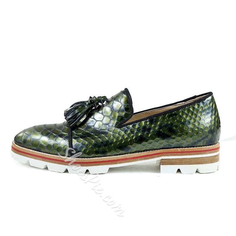 1ed4aaeb4ab Snakeskin Lace-Up Men s Loafers- Shoespie.com