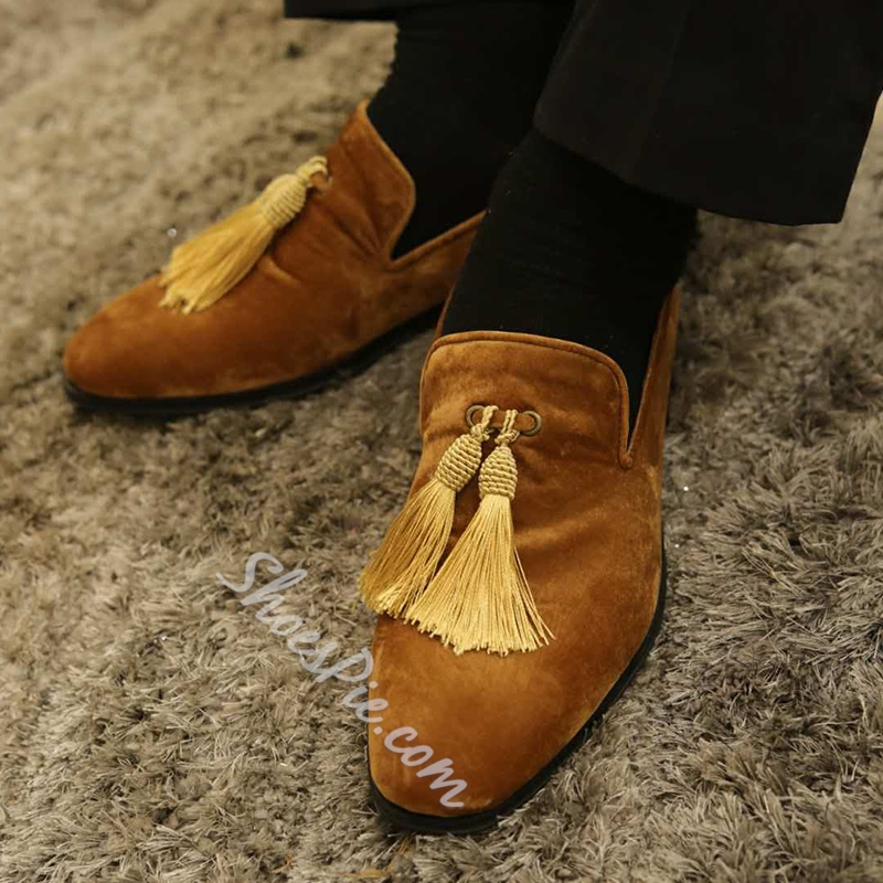 Casual Slip-On Fringe Men's Loafers