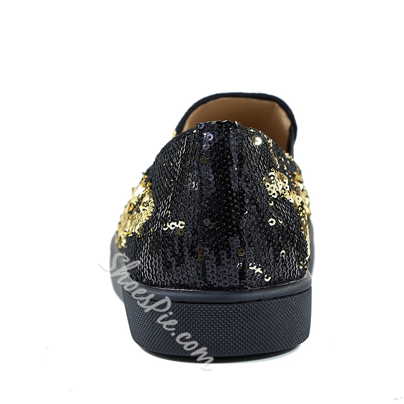 Casual Slip-On Sequin Men's Loafers