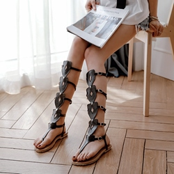 Summer Flat Sandals Casual High Shaft Women's Shoes