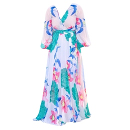 Shoespie Pullover Floral Printing Women's Maxi Dress