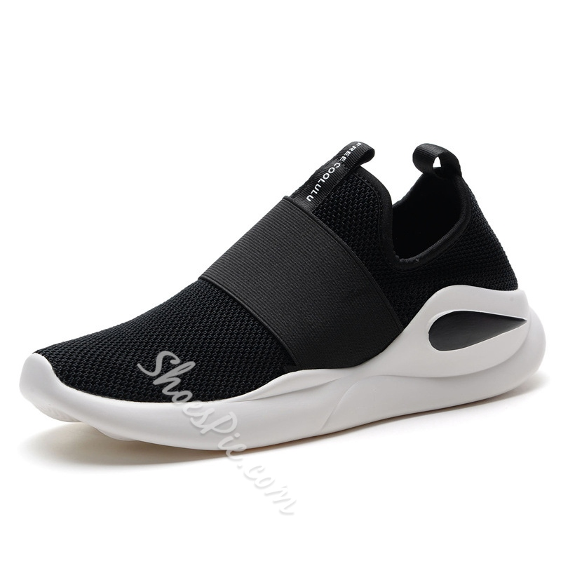 Elastic Band Athletic Shoes Men's Sneakers