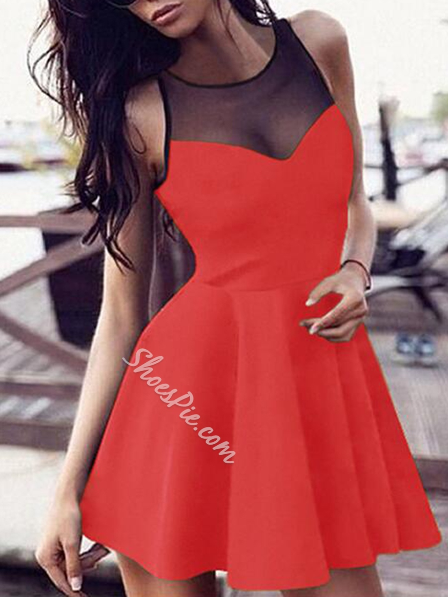 Summer Bodycon Dresses Round Neck Sleeveless