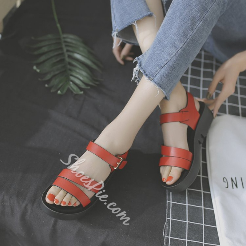 Fashion Flat Sandals Platform Summer Women's Shoes