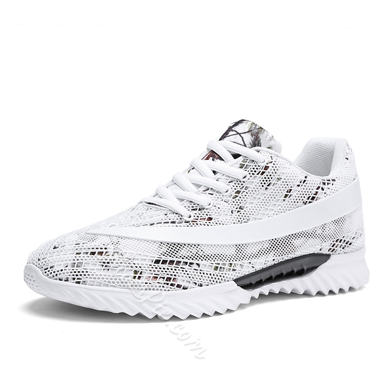 Mesh Lace-Up Athletic Shoes Men's Sneakers