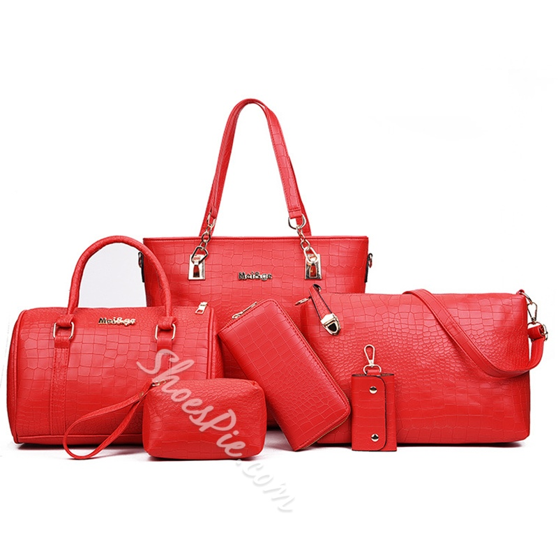 Shoespie Occident Style Solid Color Bag Set