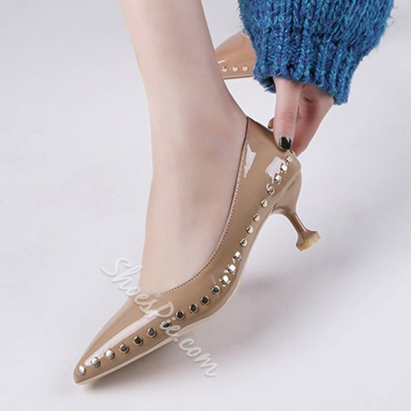 Rivet Slip-On Women's Low Heels