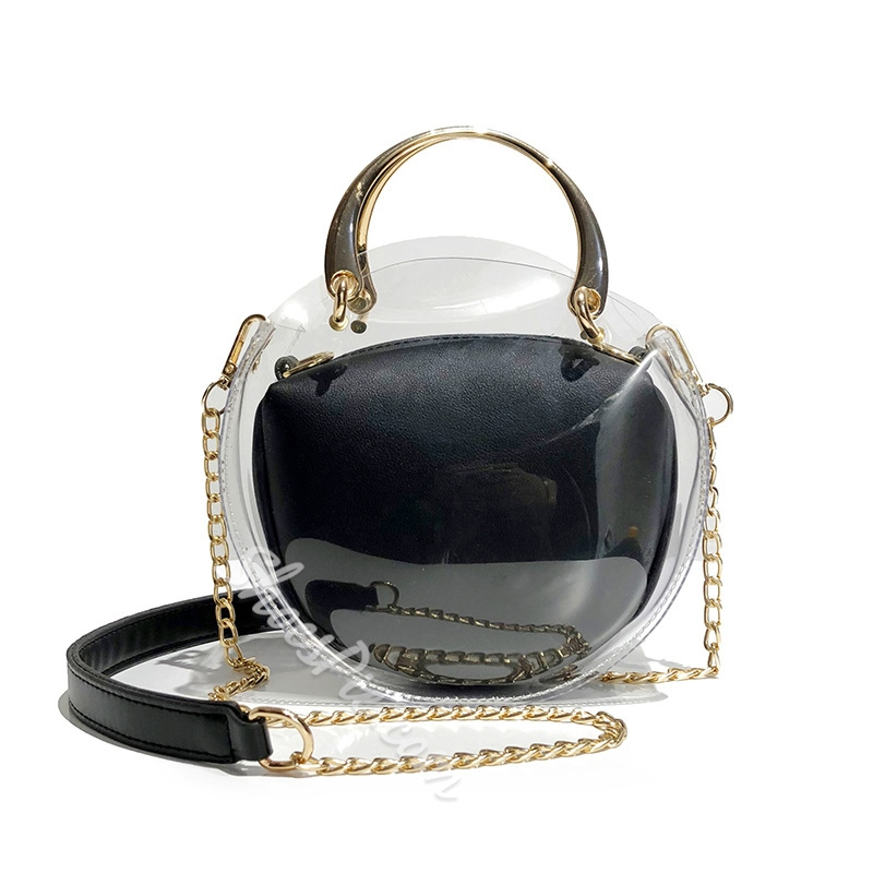 Shoespie PVC Colorfur Chain Crossbody Bag