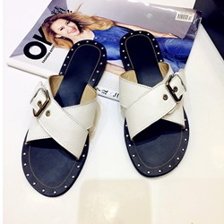 Buckle Casual Slip-On Flat Sandals