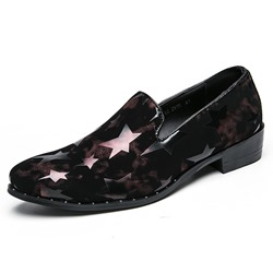 Men's Loafers Print Slip-On Shoes