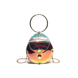 Shoespie PVC Shining Chain Crossbody Bag