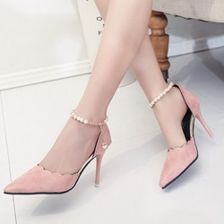 Shoespie Stylish Beading Stiletto Heels