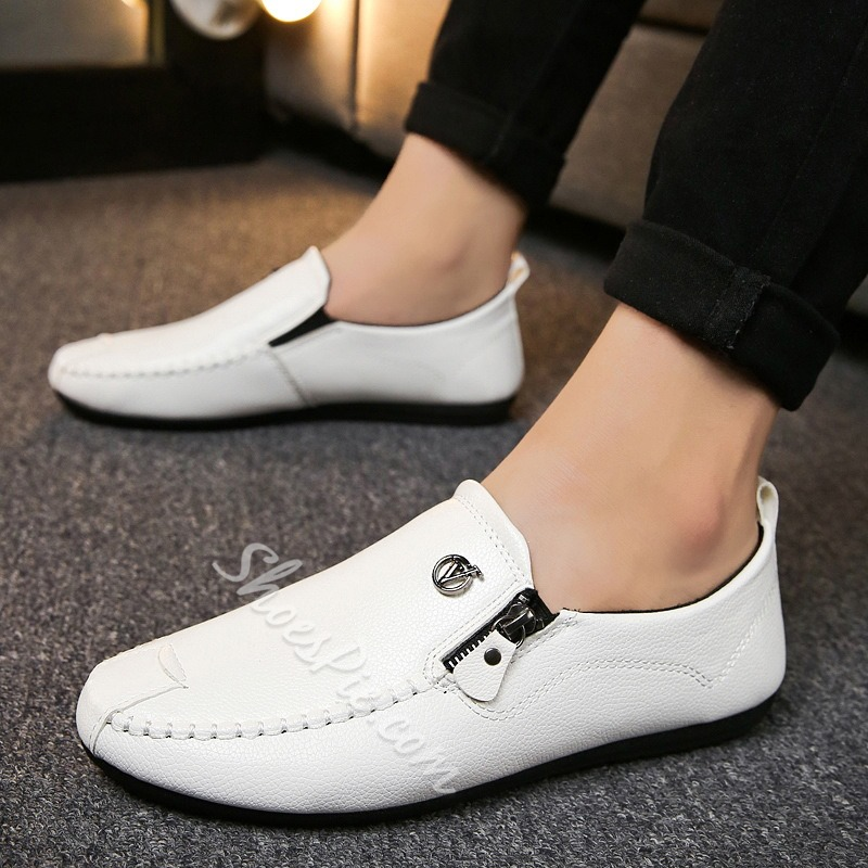 Casual Men's Loafers Zipper Summer Shoes