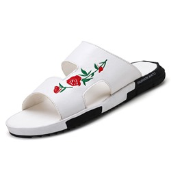 Slip-On Flip Flop Embroidery Men's Sandals