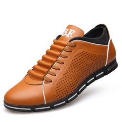 Hollow Round Toe Lace-Up Men's Loafers