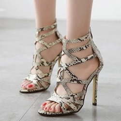 Hollow Stiletto Heel Serpentine Dress Sandals