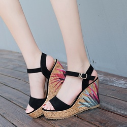 Summer Wedge Heel Sandals Platform Women's Shoes