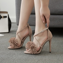 Fringe Stiletto High Heel Dress Sandals