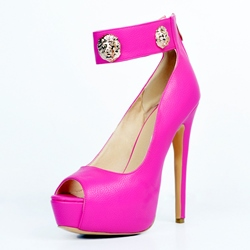 Plain Peep Toe High Stiletto Heels