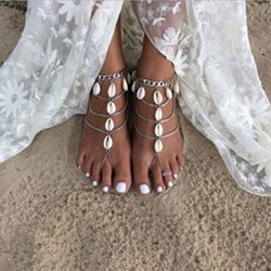 Shell Shape Bohemia Alloy Anklets